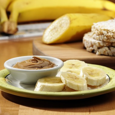 no stir almond butter & banana