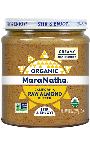 MaraNatha Almond Butter Organic Raw Creamy 8oz