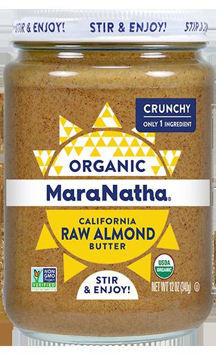 MaraNatha Almond Butter Organic Raw Crunchy